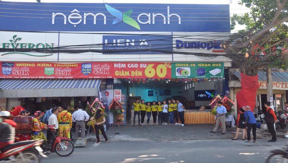 Nệm Xanh Khai Trương Showroom Vĩnh Phước - Nha Trang